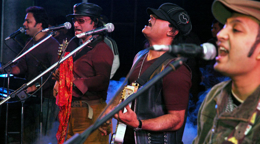 Miles Performing at Durnity Birodhi Concert at Dhaka