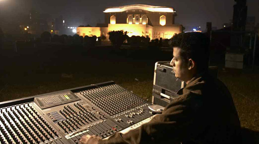 Laser and Light show at Lalbagh fort
