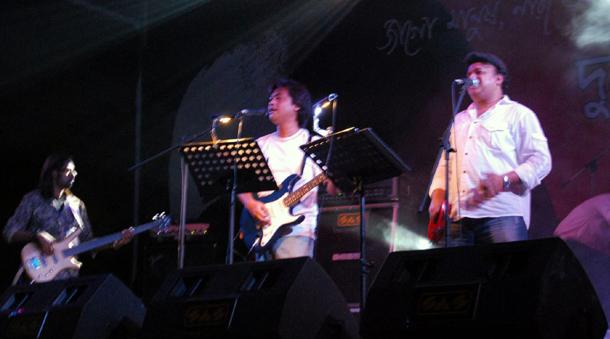 Souls Performing in Durnity Birodhi Concert